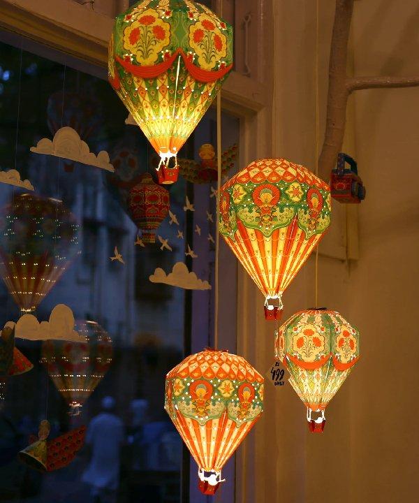 Big Hot Air Balloon Paper Lamp Shade, Hot Air Balloon Lampshade